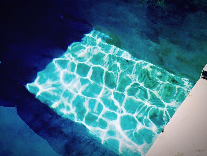 Water Pool Light Blue Crystal Summer