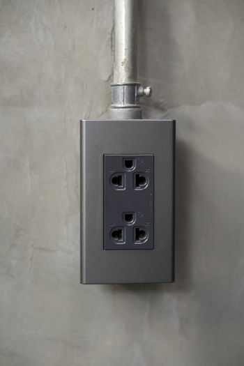 Close-up Concrete Day Electricity  Indoors  Indrustrial Loft No People Plug Socket Switch Wall