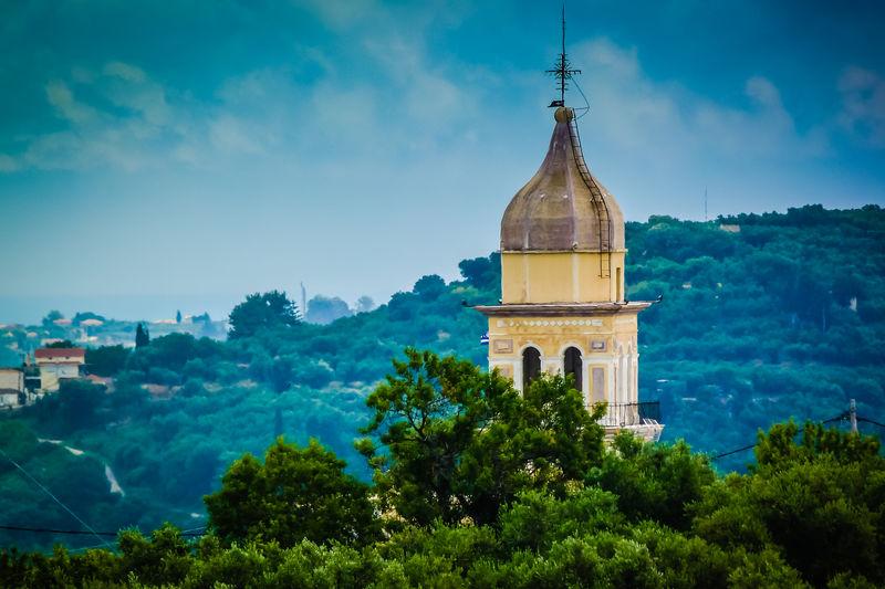 Greece Greek Islands Holiday Ionian Island Summer Tourism Travel Vacations Zakynthos Zante Hills Church Tower Hill Views Hilltop