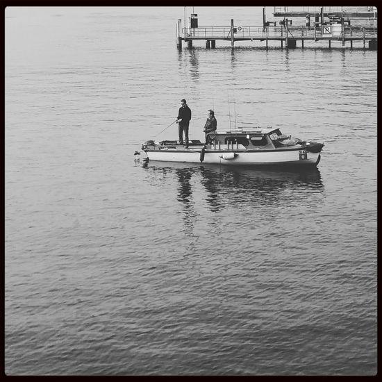 Fishing Zurich, Switzerland Blackandwhite Monochrome