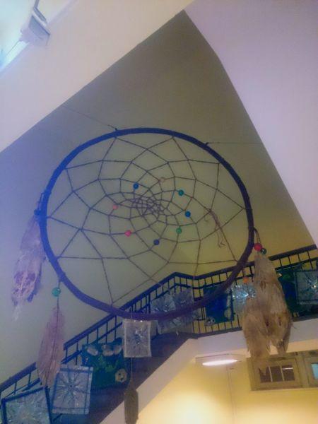 Gigantic Dreamcatcher in a Musicschool.