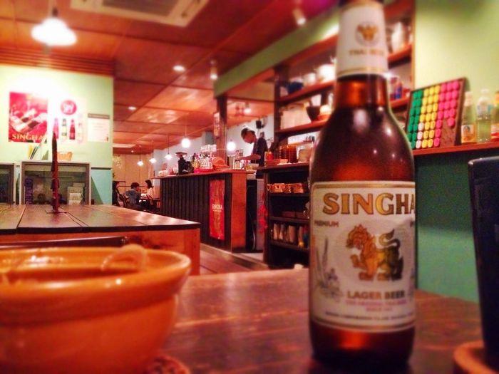 昨夜は Thai Food Eating Drinking Relax Time