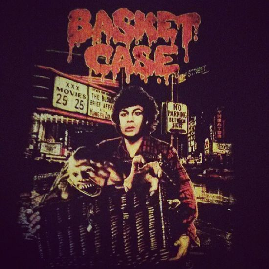 Newest member of my horror t-shirt collection. Thanks @frightrags! Basketcase 42ndStreet Frightrags