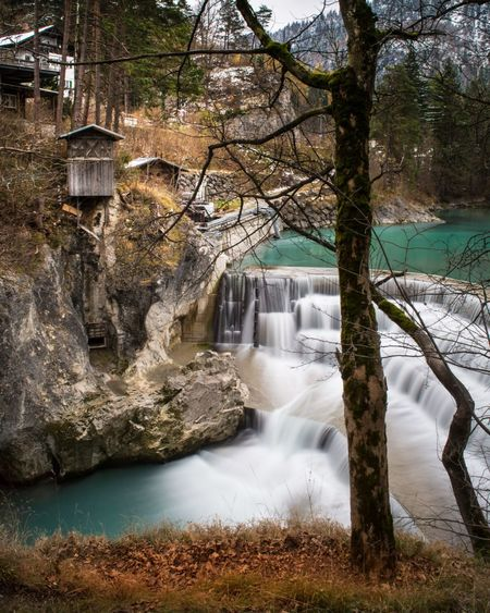 Lechfall, Füssen, Bavaria, Germany Germany Visitgermany Longexposure Alps Allgaeu Bavaria Landscape Waterfall Waterfalls Green German River Water Long Exposure Motion Tree Nature Waterfall Beauty In Nature Outdoors No People River Day Scenics Watermill Sky