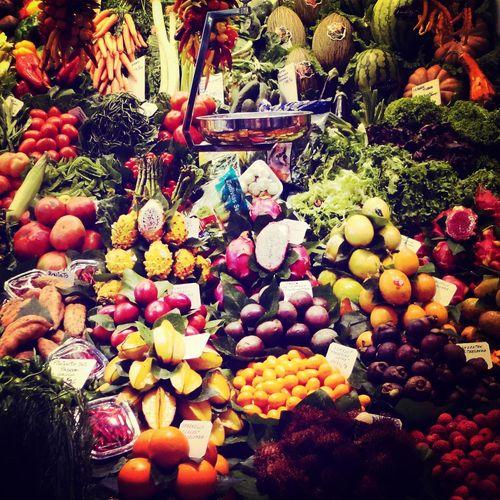 La boqueria España Frutas Y Verduras Exotic Flowers Barcelona
