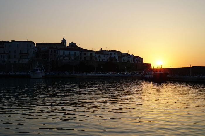 Molise Port Sea And Sky Sunset Sunset Silhouettes Sunset_collection Sunsetporn Termoli