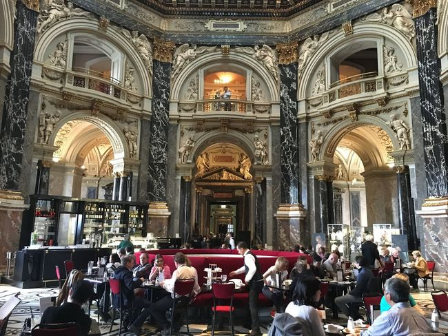 Cafe at the Art History museum in Vienna, Austria Adult Architecture Built Structure Cafe Day Large Group Of People Men People Place Of Worship Real People Religion Spirituality Women
