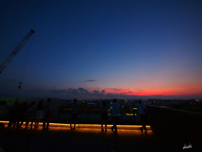 遠い空に思いを馳せて E-PL3 Sky Silhouette Before Night After Sunset