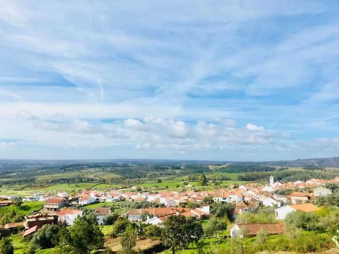 Landscape of Monfortinho village Cloud - Sky Horizon Portugal Beira Region Center Of Portugal Nature Houses Monfortinho Village Landscape Mountain