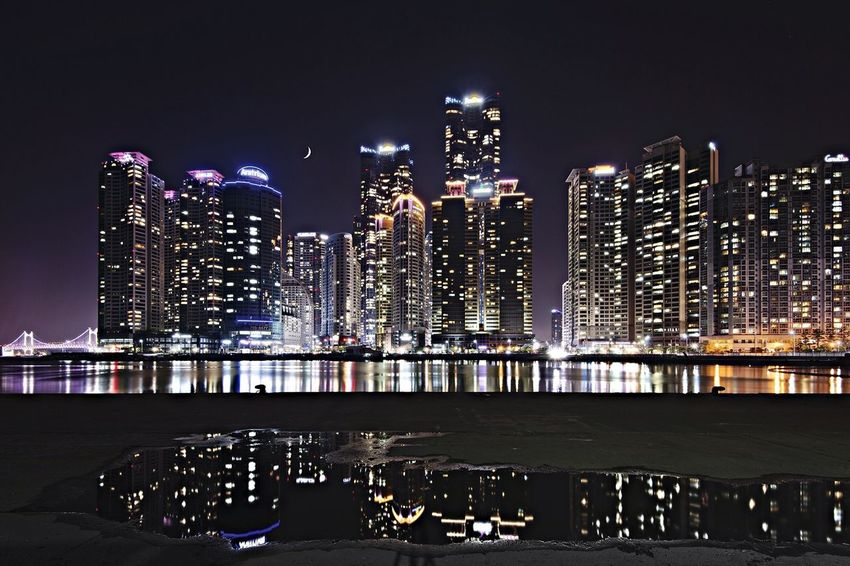 Traveling Nightphotography Architecture Busan Haeundae Cityscapes