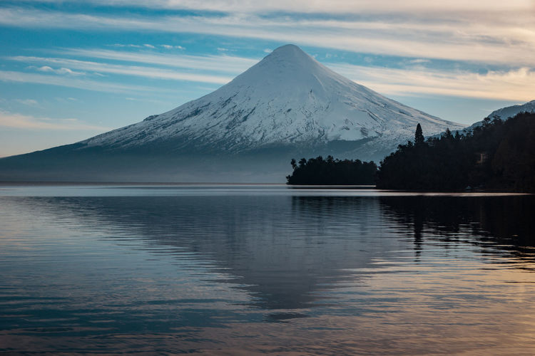Osorno volcano... EyeEmNewHere The Great Outdoors - 2018 EyeEm Awards Beauty In Nature Cloud - Sky Cold Temperature Idyllic Lake Mountain Mountain Peak Mountain Range Nature No People Non-urban Scene Outdoors Reflection Scenics Scenics - Nature Sky Snow Snowcapped Mountain Tranquil Scene Tranquility Water Waterfront Winter