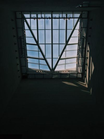 View of sky seen through window