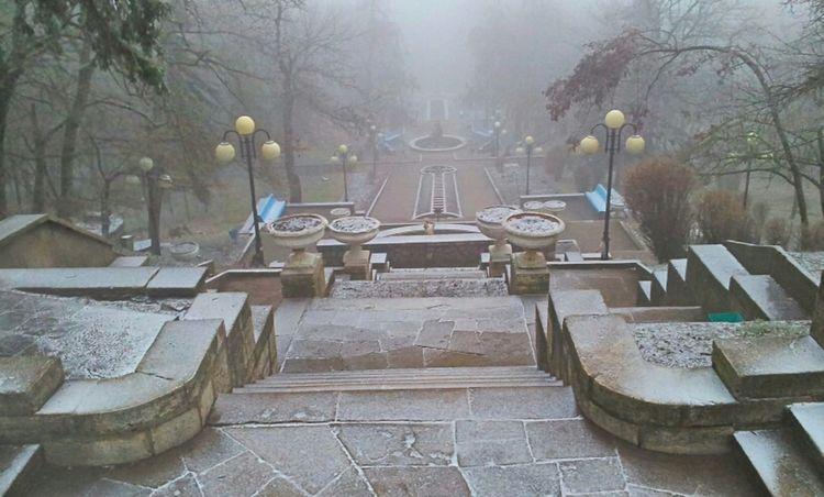 Architecture Nature Fog Fountain Ladder