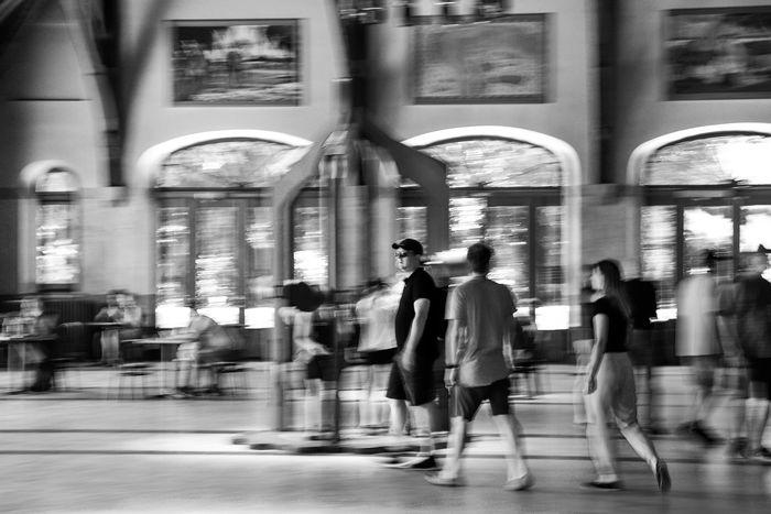 Streetphotography Blackandwhite Black And White Black & White City Full Length Men Pedestrian Crowd Women Motion Walking Blurred Motion City Life