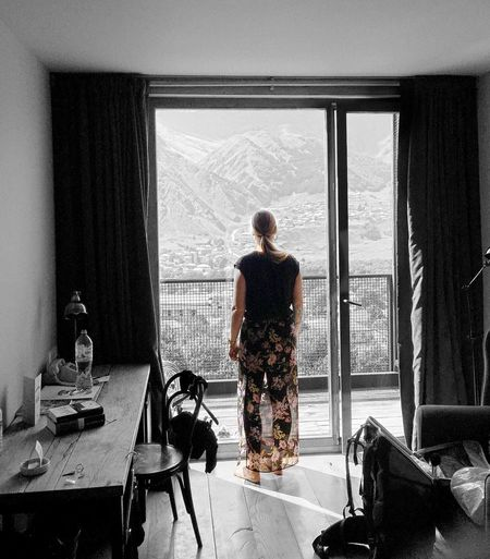 Mountain view in Kazbegi Georgia One Woman Only Window One Person Mountain Hotel Kazbegi Georgia Indoors  Traveling Landscape Snap a Stranger Taking Photos Holiday Quality Time Travel Travel Destinations Roomshotelkazbegi Roomshotelgeorgia Nature Girl Window View EyeEmBestPics Eye4photography  EyeEm The Photojournalist - 2018 EyeEm Awards