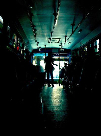 Woman in illuminated room