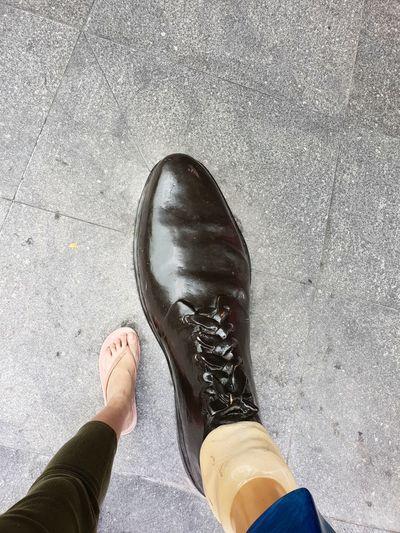 I've found big FOOT! BFG 🤗 Bfg  Big Friendly Giant Singapore Randomshot Daytime Photography EyeEmNewHere EyeEm Selects EyeEm Gallery Low Section Standing Human Leg Men Shoe High Angle View Personal Perspective Human Foot Close-up Human Feet Footwear Slipper  Foot