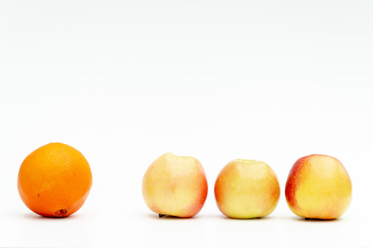 Diversity White Background Studio Shot Healthy Eating Food And Drink Food Wellbeing Fruit Freshness Group Of Objects Indoors  Copy Space Orange Color Citrus Fruit Still Life Orange Orange - Fruit No People Close-up In A Row Group