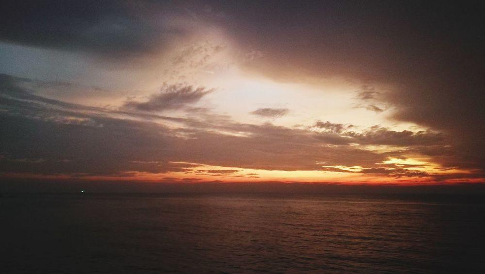 sunset @ Tanjung Bidara Evening Sky HuaweiP9plus Huawei Sunset