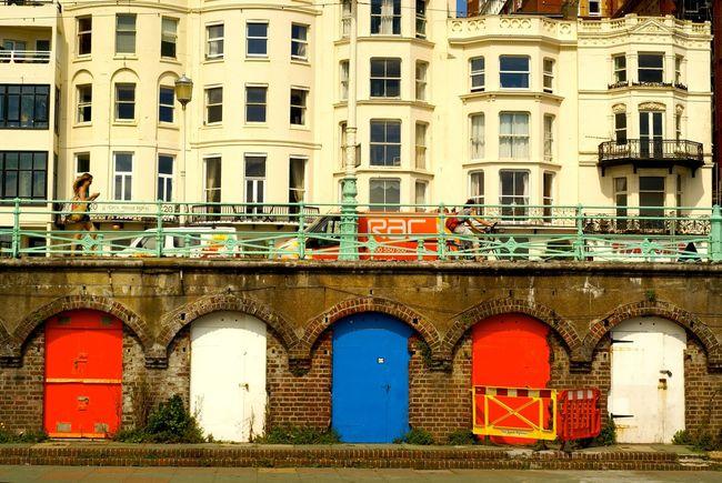 Arcade Arch Brighton Brighton Beach Façade Georgian Architecture King's Road Multi Colored Seafront Sussex Coast