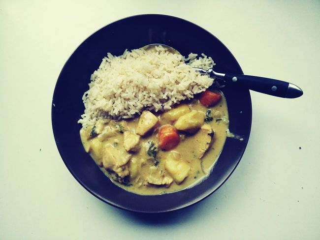 Curry Thai Thailand Poulet Riz Chicken Curry