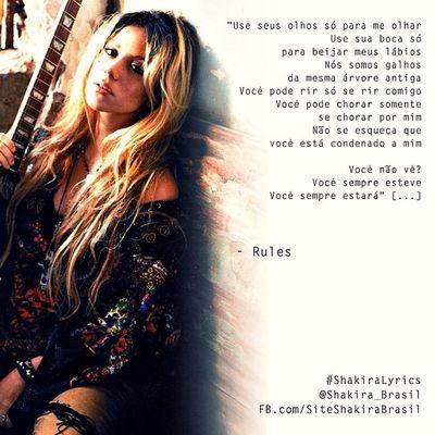 ShakiraLyrics - Rules Shakirabrasil Shakira