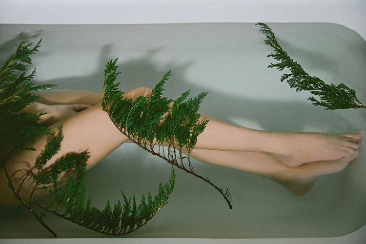 Woman Woman Legs Legs Legs_only Water In The Bath Mistery Nüde Art. A Bird's Eye View