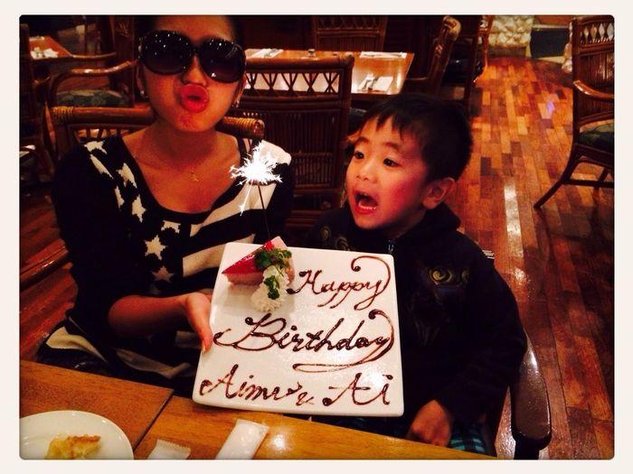 三女と孫の合同お誕生日会をH.Bグリルでやったよー(^^)ケーキも花火をつけて出してくれて従業員皆で歌ってくれました↗️↗️