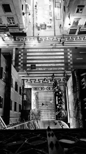 People And Places Lissabon Art Shapes And Lines Elevator Blackandwhite