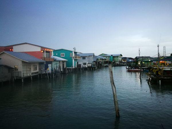 Malaysia Scenery House By The Sea Pulau Ketam Malaysia