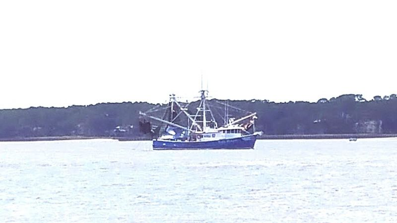 Nautical Vessel Transportation Sea Sky Sailboat Outdoors Water Beauty In Nature Nature No People Sailing Day Sailing Ship Yachting Shrimp Boat Shrimping