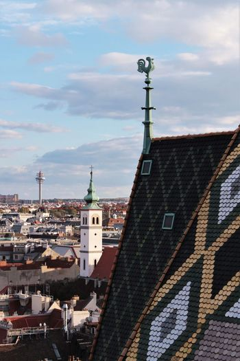 Skyline Horizon Architecture Architecture Photography Roof City Cityscape Church Roof Tile Sky Sky And Clouds Tower Wien Clouds EyeEmNewHere My Best Photo