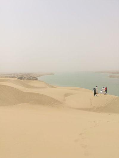 Sand Dune Clear Sky Water Sea Full Length Desert Beach Sunset Sand Low Tide