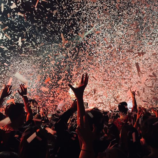 Group Of People Crowd Real People Enjoyment Large Group Of People Event Nightlife Human Arm Arms Raised Music Confetti Emotion EyeEmNewHere