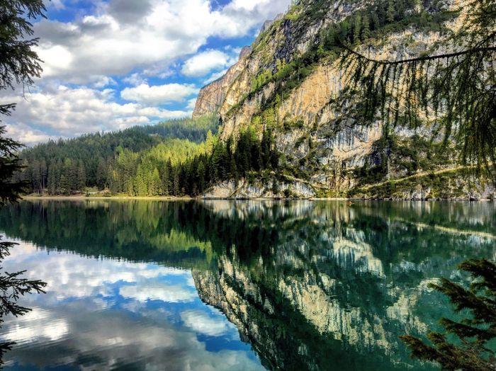 Braies Braies Lake Lake Lake View Südtirol Altoadige Colors Autumn