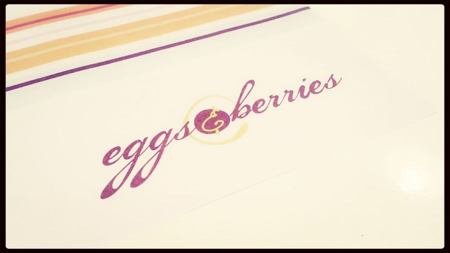 eggs and berries for lunch earlier on.