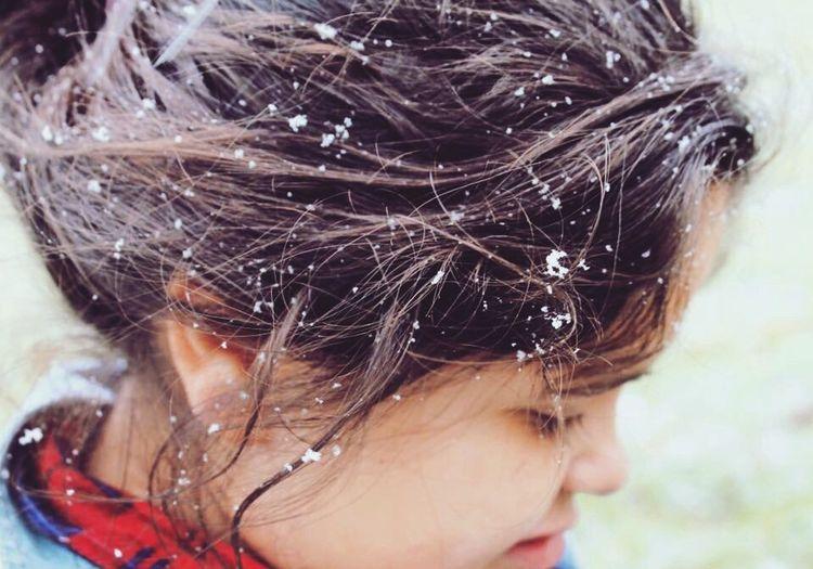 Close-up Winter Snow Human Hair Hair