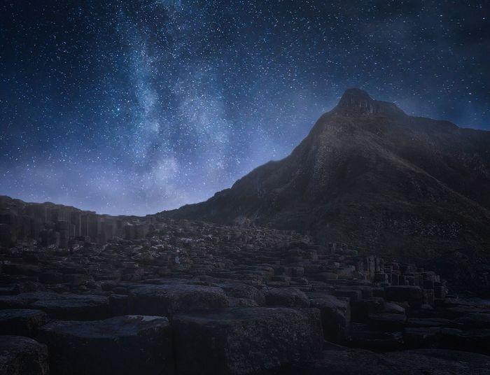 Milky Way Mountain Night Star - Space Astronomy Sky Milky Way Outdoors Beauty In Nature Nature Landscape No People EyEmNewHere Ireland Northern Ireland GiantsCauseway