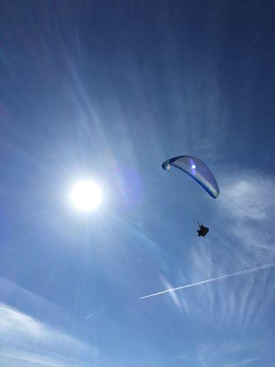 No Filter, No Edit, Just Photography Sun Blue Sky Sport Paragliding