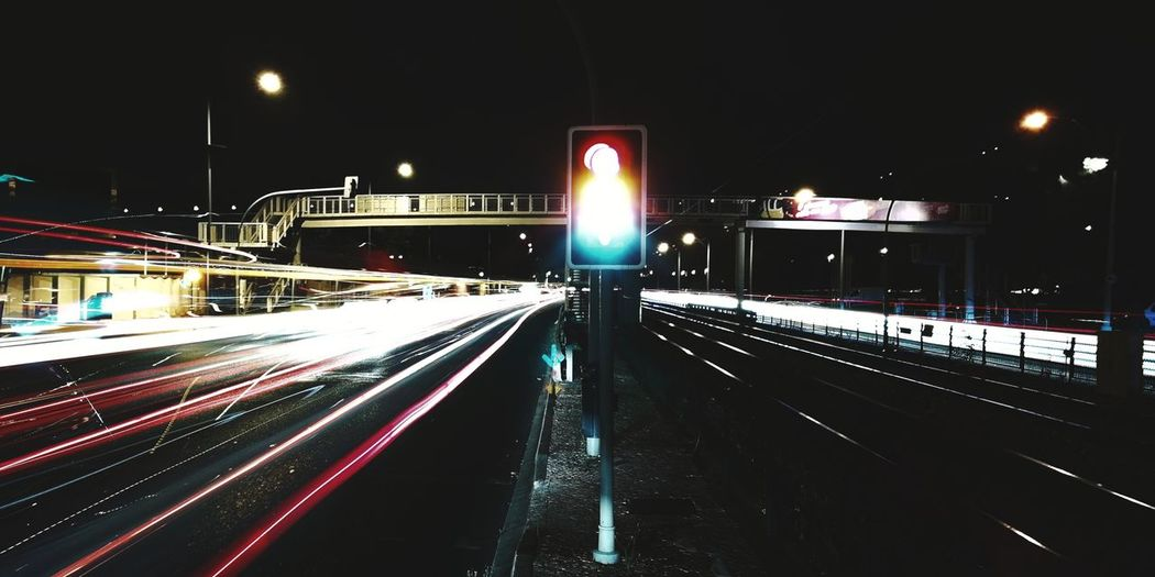 Trailed lights