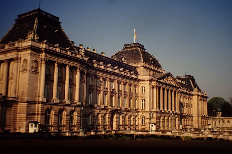 Royal palace of brussels against clear sky