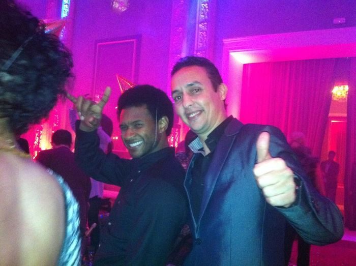 With Usher on the new year night
