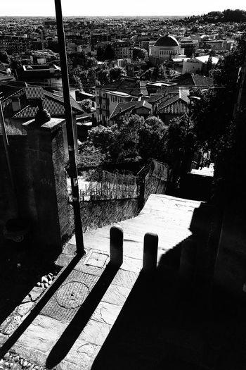 En escalier