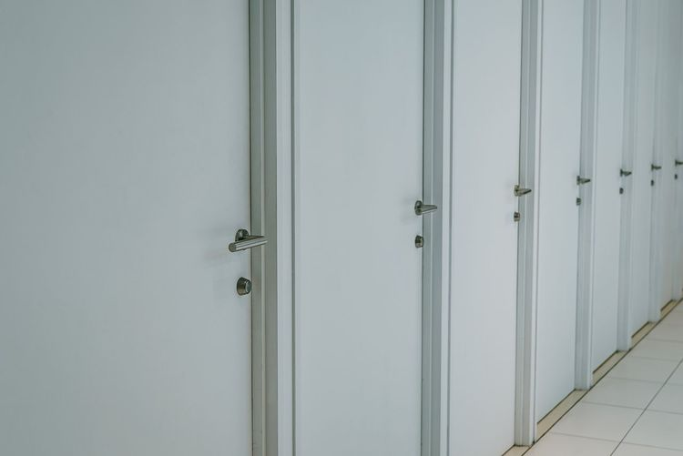 Door Entrance Security Protection No People Safety Architecture Built Structure Pattern In A Row Closed Full Frame Wood - Material Indoors  Metal Wall - Building Feature Day Locker Room Transparent