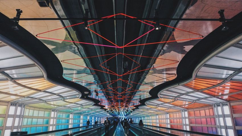 Chicago Travel Sony A6000 2016 Travels Colorful O'Hare Airport Colors