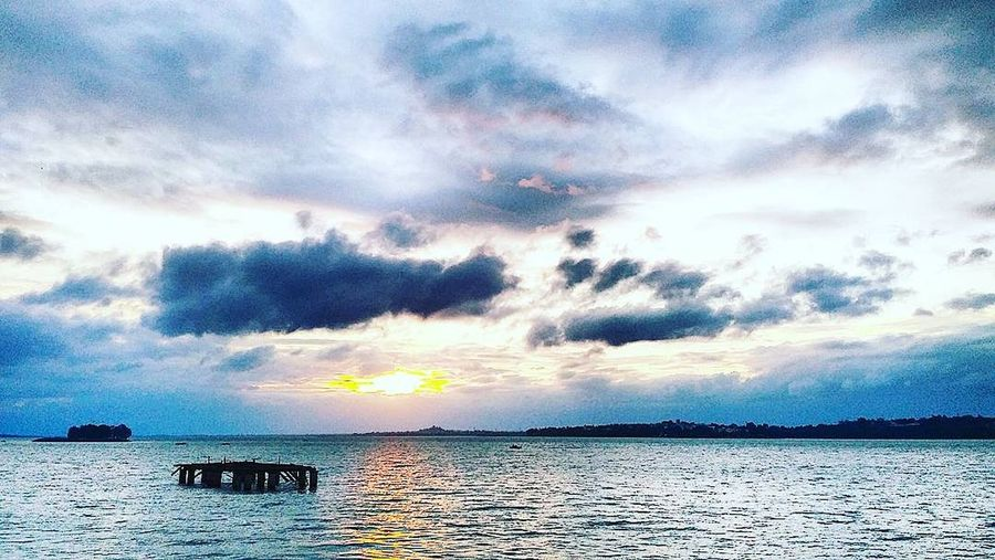 Sunset Sky And Clouds Lakeview Bhopal, Madhya Pradesh, India Beauty In Nature