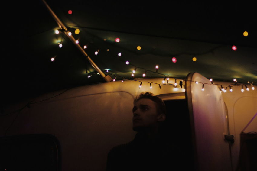 Follow me on instagram:ulisi_ People Night One Person Illuminated Adult Portrait Boy Lights Vscocam Photography Taking Pictures Mood Photooftheday Minimal Travel Minimalism VSCO Adult The Week on EyeEm Editor's Picks