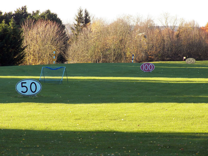 JUST 12Mpx Golf Course Alternate Colored Lawn Autumn Theme Golf Course Golf Course Photography Golf Course View Golf Lawn Golf Panorama Golf Theme Golf Golf ⛳ Grass Grass Area Distances Panels Numbers And Ovals Sport Trees And Nature Day Outdoor No People 4x3photography In Bellefontaine , France