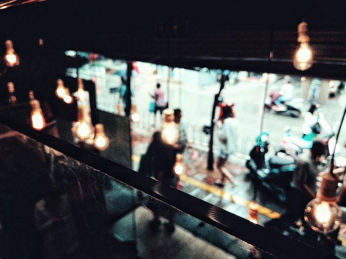 今日昆明。雨。Illuminated Lighting Equipment Night Indoors  No People City Close-up