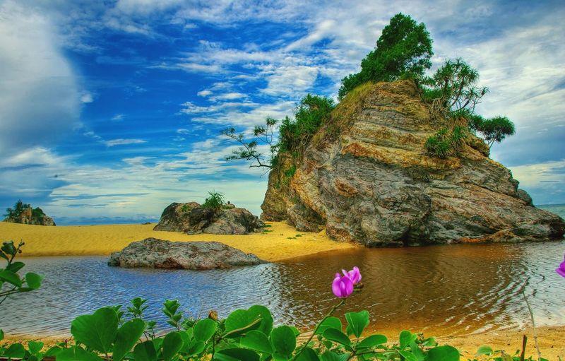 May 28th 2018, an evening at Kemasek beach, Kemaman, Terengganu Dramatic Beach Flower Beach And Rock Kemasik Terengganu Pantai Kemasik Beauty Beach Beach And Rocks Plant Sky Beauty In Nature Cloud - Sky Water Nature Growth
